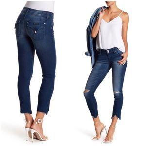 Hudson NWT Collin Skinny Uneven Hem Jeans